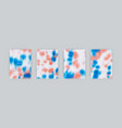 set cover templates blue and pink spots vector image vector image