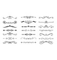 set dividers flourishes vector image