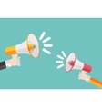Social Media Marketing Icon Hand with Megaphone vector image vector image