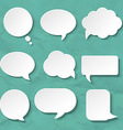 Speech Bubbles Set For Design vector image