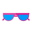 sunglasses icon eyes protection on a sunny vector image vector image