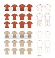 t-shirt fashion set vector image
