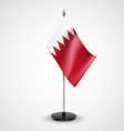 Table flag of Bahrain vector image vector image