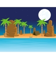 Tropical coast with palm vector image