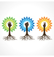 Unityvictory and helping hand make tree vector image vector image