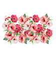 Vintage floral seamless border bouquet of