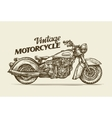 Vintage motorcycle Hand drawn sketch retro vector image vector image