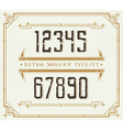 Vintage Retro Font Handcrafted Decoration Font vector image vector image