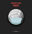 volleyball ball with a protection mask