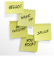 wake up be awesome hello smile you rock - set of vector image vector image