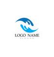 wave water logo beach vector image vector image