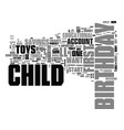 what to buy for your childs first birthday text vector image vector image