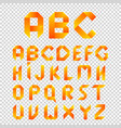 white ribbons alphabet letters and vector image
