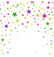Colorful background with many falling confetti vector image
