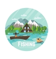 Outdoor recreation and fisherman vector image