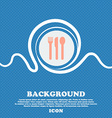 fork knife spoon sign icon Blue and white abstract vector image