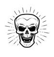 scary human skull jolly roger halloween zombie vector image