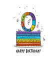 0th anniversary celebration greeting card vector image vector image