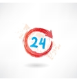 24 hours grunge icon vector image