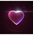 3D illuminated neon heart vector image