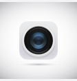 3d lens photo camera app icon isolated on soft