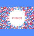 3d like icons abstract background vector image vector image