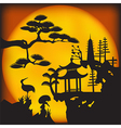 Asian landscape2 vector image vector image