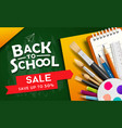 back to school supplies for sale design vector image