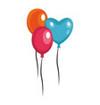 balloons flying isolated vector image