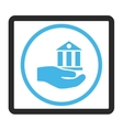 Bank Service Framed Icon vector image
