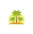 beach tree palms vector image vector image