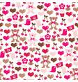 bee mine valentine seamless pattern background vector image vector image