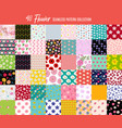 big collection set 48 seamless flowers pattern vector image vector image