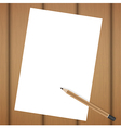 blank realistic spiral notepad notebook and pencil vector image vector image