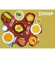Bulgarian cuisine dinner icon for menu design vector image vector image