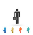 businessman man with briefcase icon isolated vector image