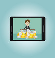 businessman or manager working businessman or vector image vector image