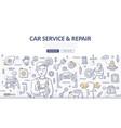 car service repair doodle concept vector image