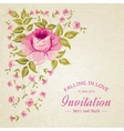 Card of color rose vector image