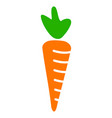 carrot flat icon vector image