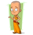 Cartoon young Buddhist boy vector image