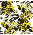 chaotic yellow and black summer seamless pattern vector image vector image