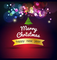 christmas greeting card and background merry vector image vector image