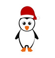 christmas penguin cartoon character vector image vector image