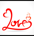 creative typography of love design vector image vector image