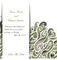 Curly military invitation pattern for your vector image vector image