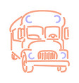 doodle or hand drawn school bus in form of vector image vector image