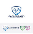 eagle brand logo design vector image