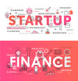financial startup word abstract thin line vector image vector image