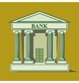 Flat bank icon vector image vector image